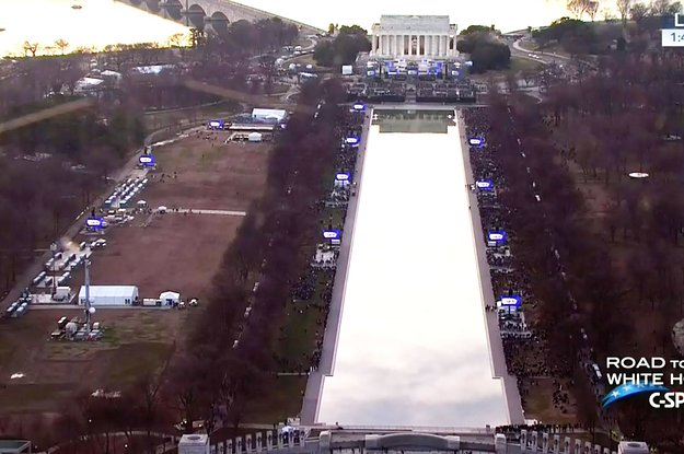 People noticed that crowds were a lot smaller for Trump's inaugural co...
