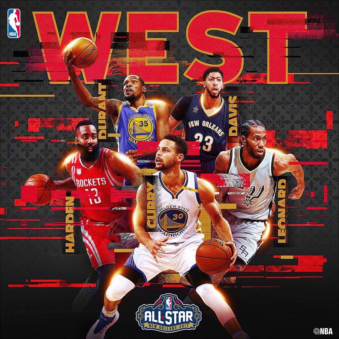 2017年 #NBAオールスター ウェスタン・カンファレンス先発  ステフィン・カリー ジェームズ・…