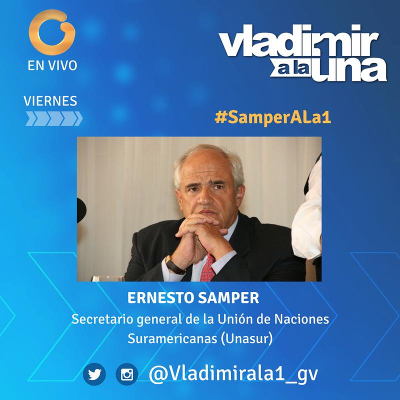 #Viernes no se pierda nuestra entrevista con #SamperALa1 @ernestosampe...