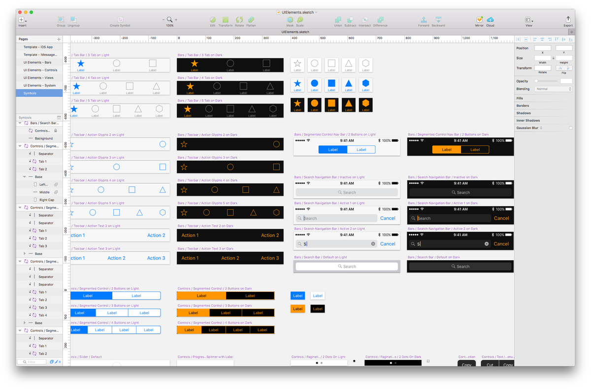iOS dark mode coming soon? Lots of dark UI in these official UI element kits from . https://t.co/m2IO33HX3q