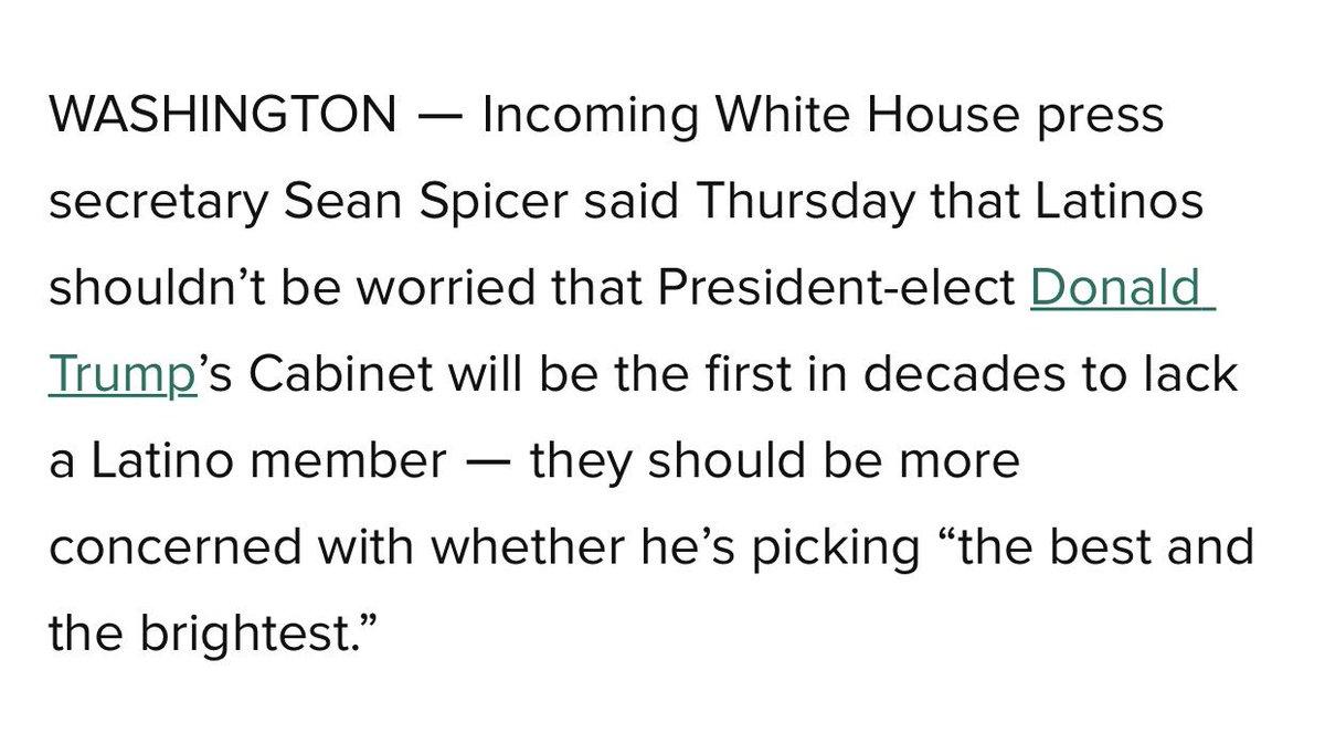 Trump spokesman suggests Trump's trash cabinet picks are more qualifie...