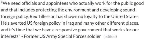 Veterans Urge McCain to Vote No on Tillerson Nomination #VetsRejectRex #RejectRex #ExxonKnew  http:// abcnews.go.com/Politics/video /veterans-urge-mccain-vote-tillerson-nomination-44894090 &nbsp; …  @SenJohnMcCain<br>http://pic.twitter.com/WIMvalU85W