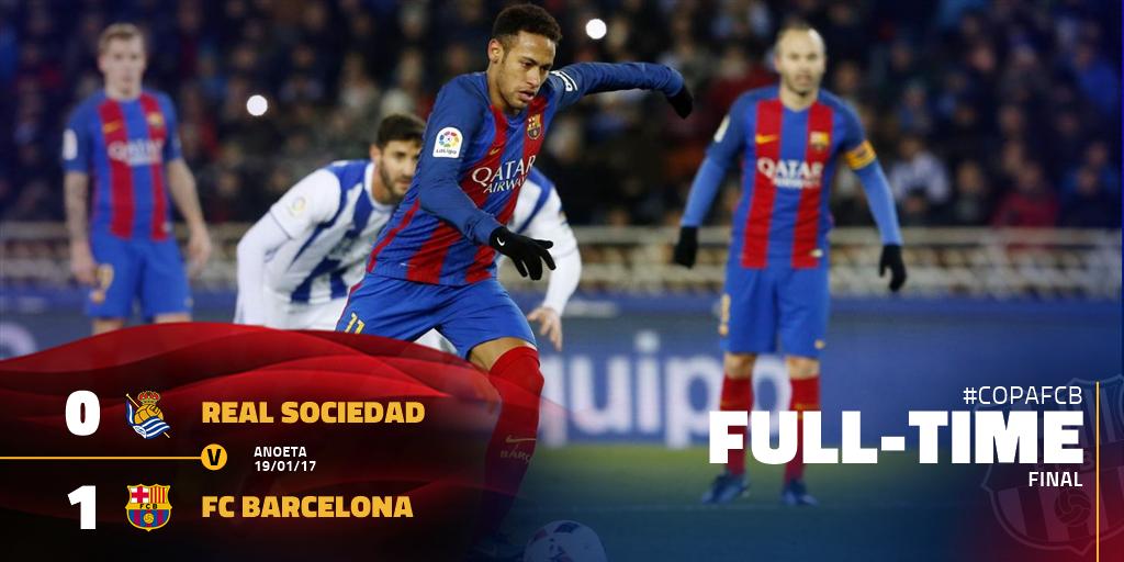 ⌚️ ¡Final del partido en Anoeta! ⚽️ Real Sociedad 0-1 Barça (Neymar Jr...