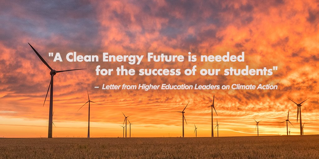 Open Letter from 170+ #HigherEd schools: #CleanEnergy and #ClimateLead...