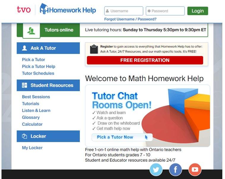 Math homework help online ontario