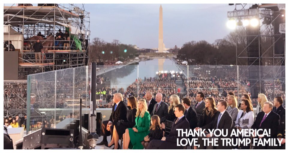 On behalf of the entire Trump family, THANK YOU AMERICA!🇺🇸🇺🇸