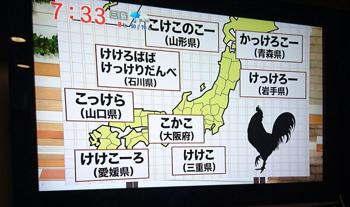 地方別鶏の鳴き声の聞こえ方 石川県は本当に鶏が鳴いていたのか