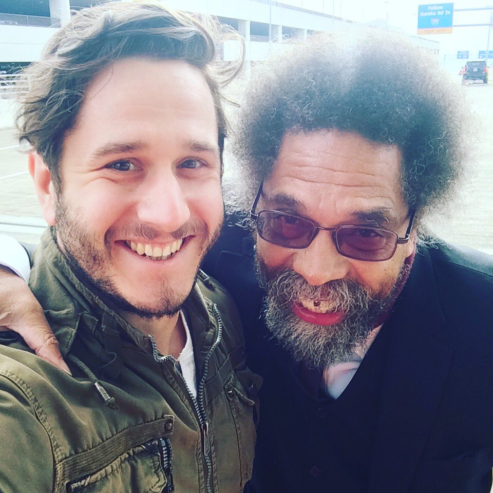 Got to chat with the righteous and estimable @CornelWest  today. Brilliant! 😃 #love https://t.co/T2ee1W9gKX