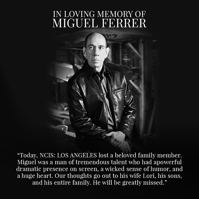 In loving memory of Miguel Ferrer. He will be forever missed. https://t.co/RRB8Kivo6J