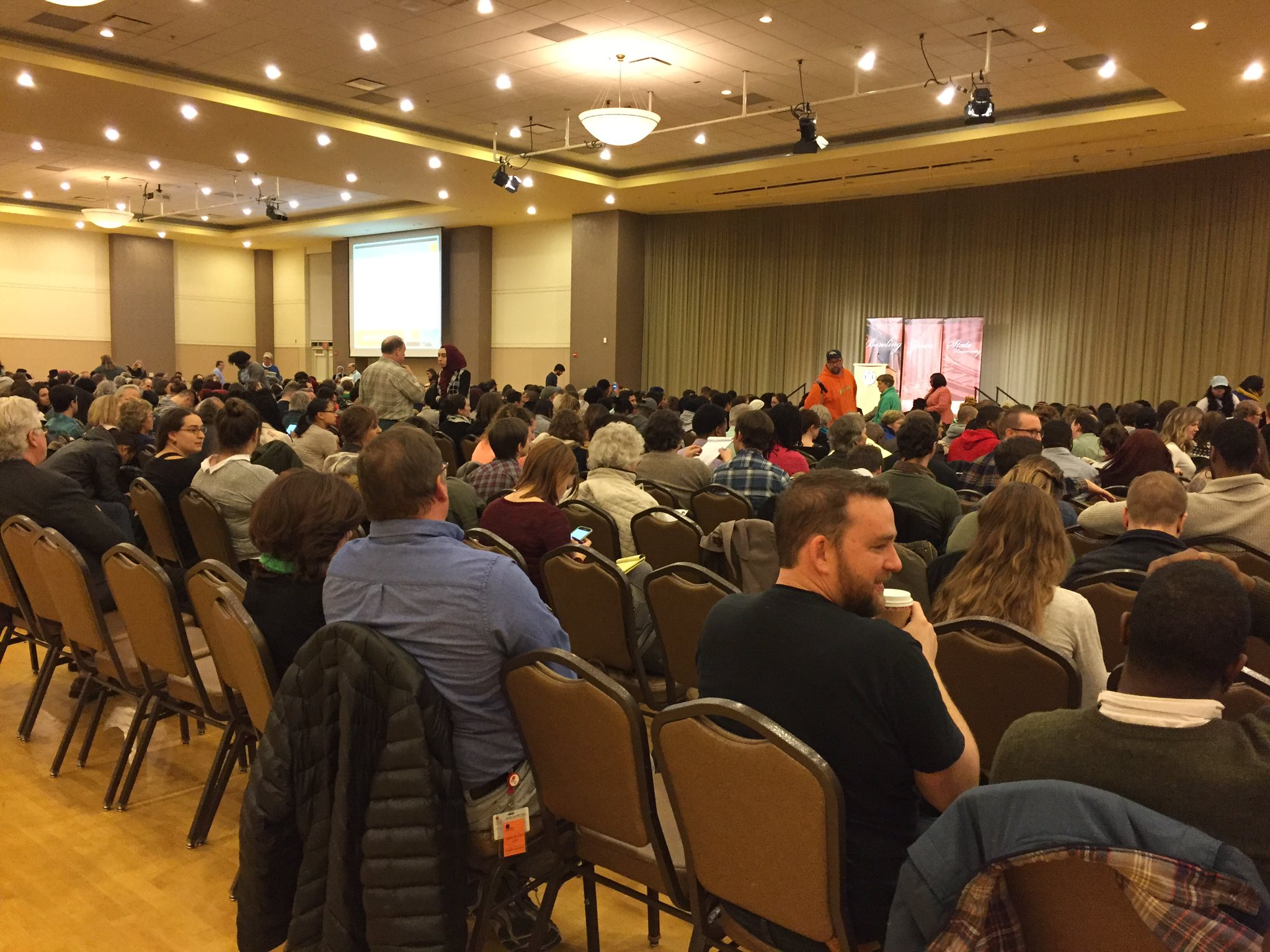 A full house is expected in the BGSU ballroom to hear Dr. Cornel West! https://t.co/QWbmHxtLGj