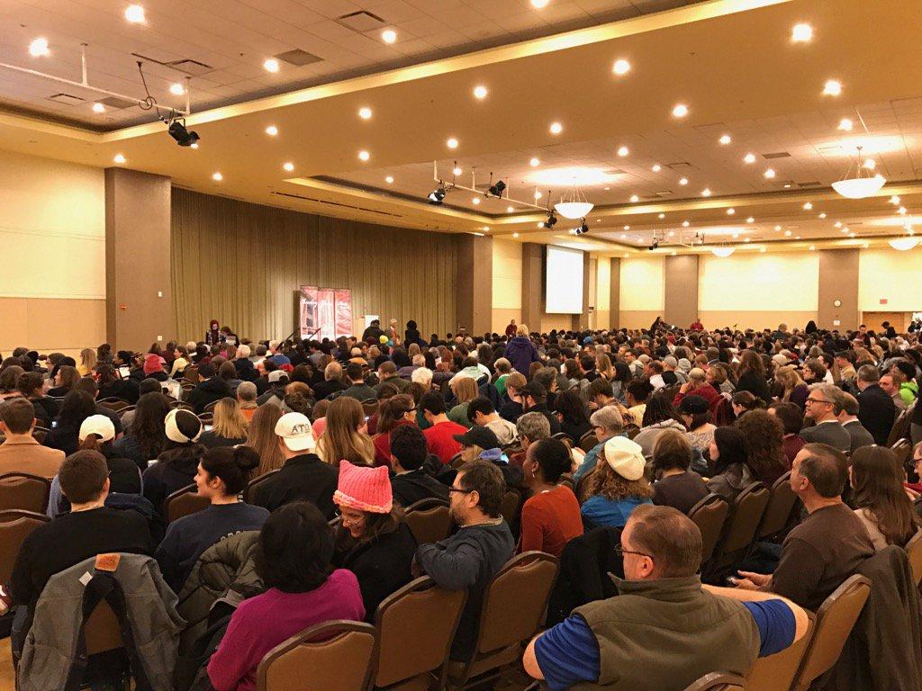 Happening now: Nearly 1,000 people fill @theBTSU Ballroom to hear Cornel West. #Bgsu https://t.co/LgcBMByZEX