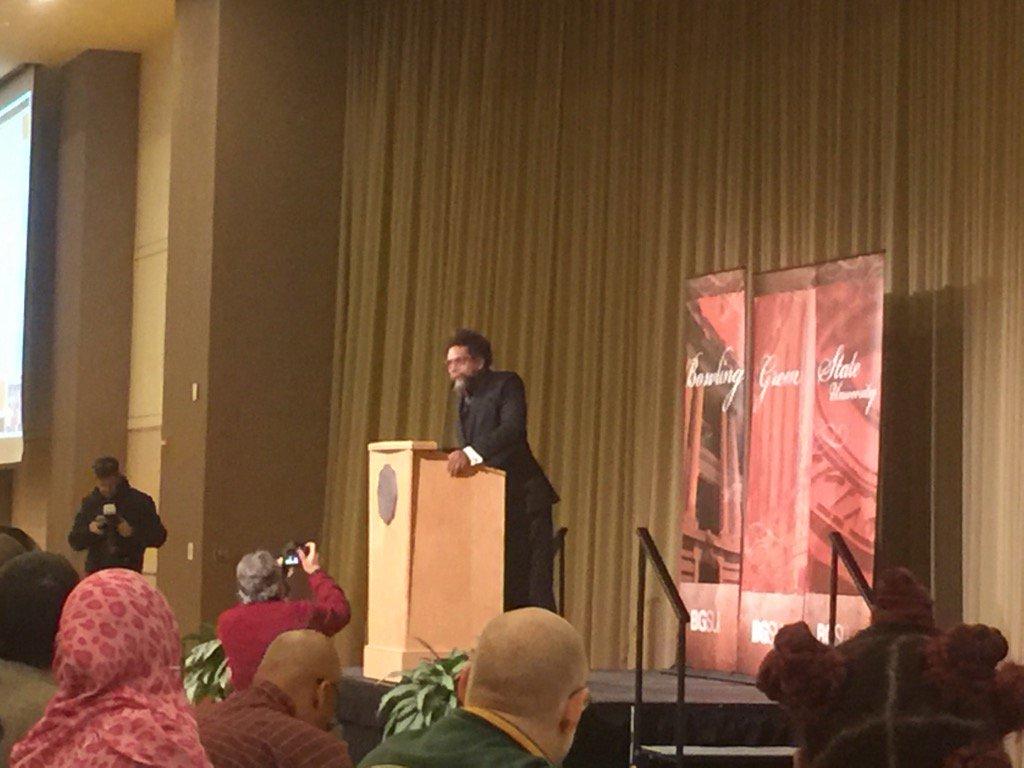 Cornel West at Bowling Green speaking on MLK https://t.co/Egw9yC6kxE