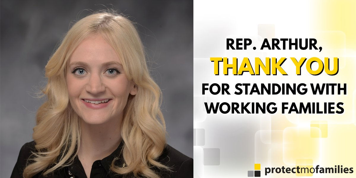 RT to thank @RepLaurenArthur for standing with Missouri workers and op...