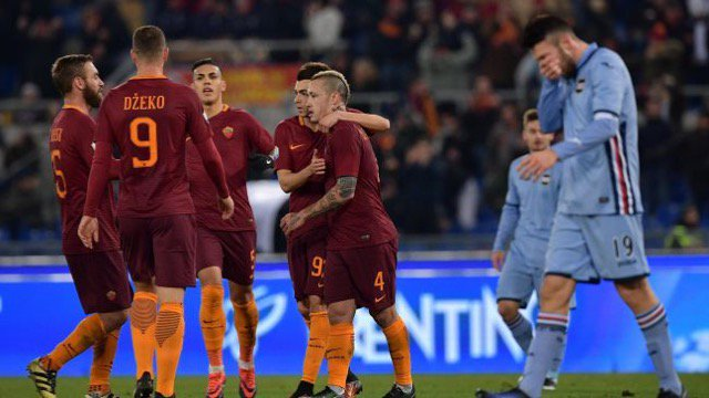 Video Roma Sampdoria 4-0 Highlights Coppa Italia: Straordinario gol di Nainggolan