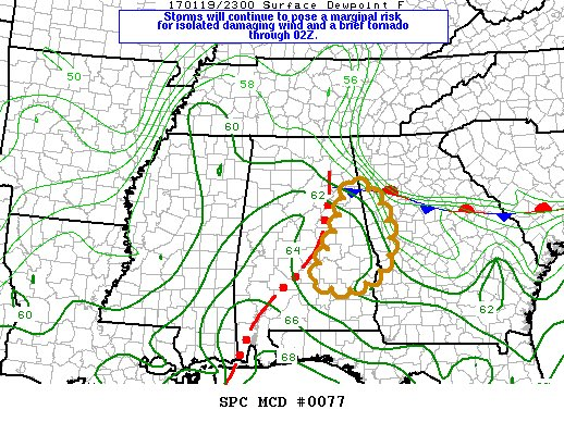 SPC monitoring storms in west GA and east AL. Only a 20% chance they will need to issue a watch. #11Alive
