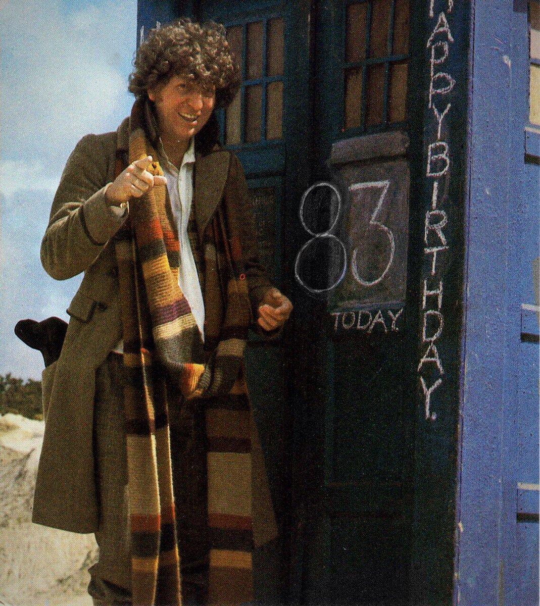 Happy Birthday to #DoctorWho legend Tom Baker. He's indomitable. Indomitable. https://t.co/Kv08I2tzIQ