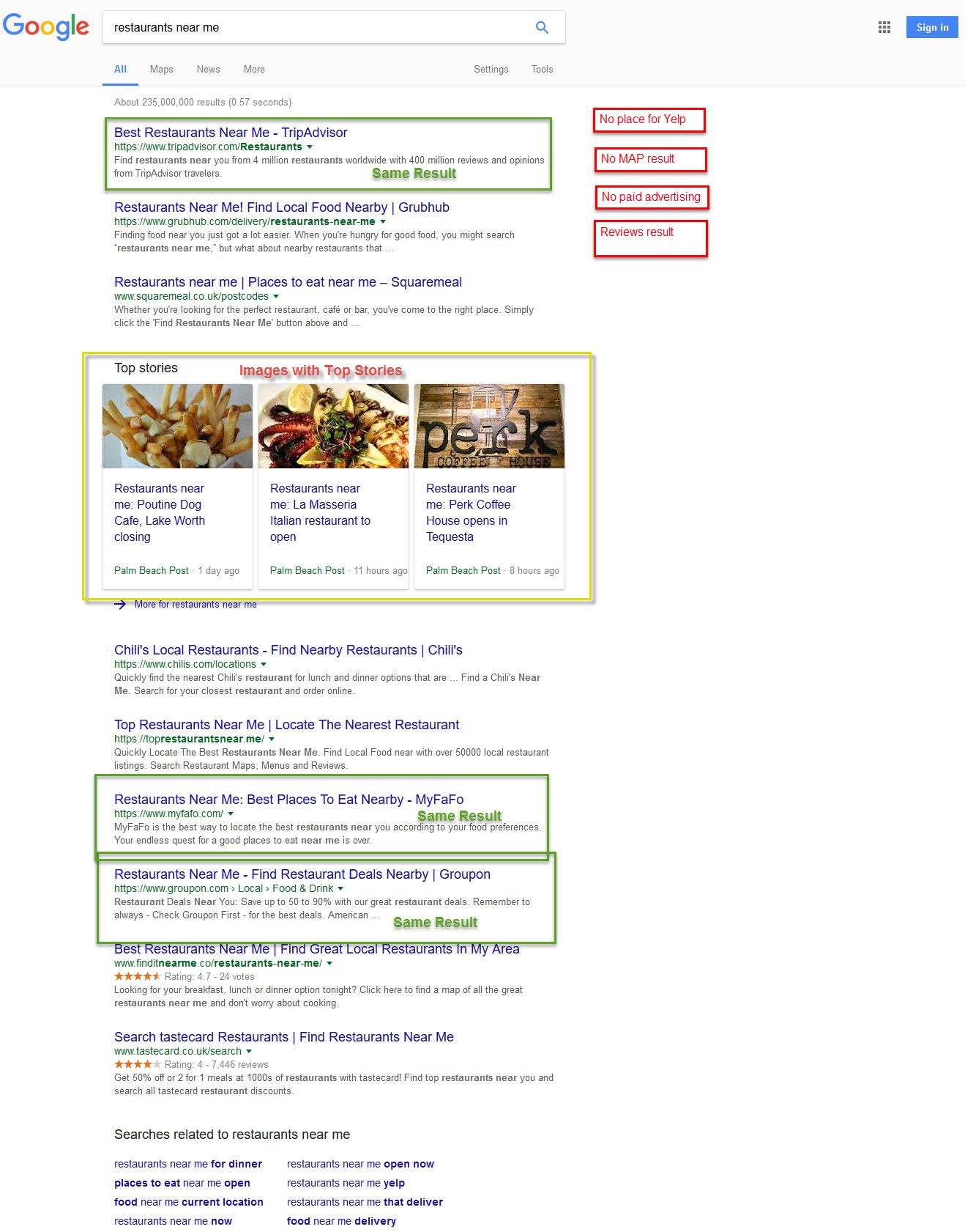 Vivek Patel On Twitter How Diffe Search Engine Google Bing Duckduckgo Displayed Results For The Same Local Terms Restaurants