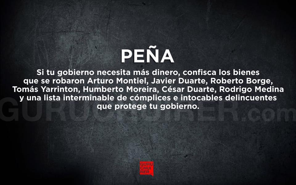 Aunque se ha repetido muchas veces lo repito de nuevo¡FUERA PEÑA! #PaseDeLista1Al43  @epigmenioibarra  @alynmon  @hekglez  @avril_prez<br>http://pic.twitter.com/cmZNaLKqoX