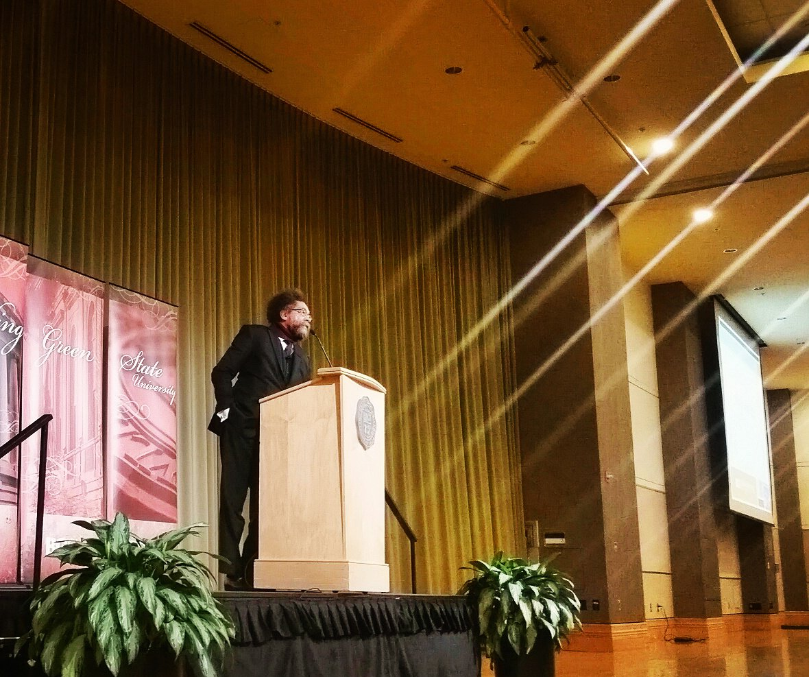 Heard Cornel West tonight at BGSU speaking on the legacy of Dr. Martin Luther King, Jr. https://t.co/bwtf8o0QA3