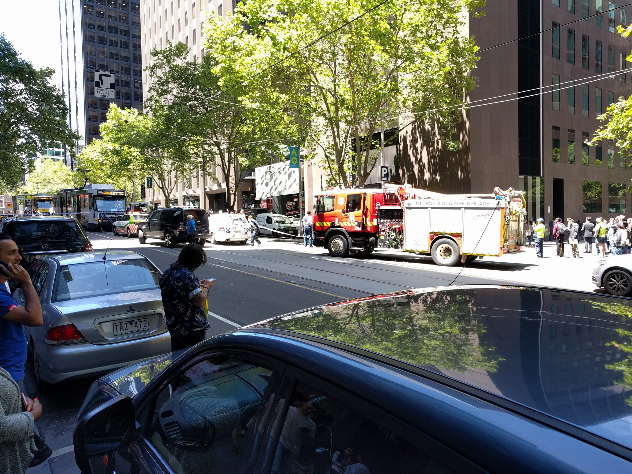 Thumbnail for People injured after car hits pedestrians in Melbourne