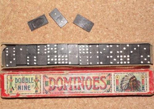 *REDUCED* Double Nine #Vintage Dominoes  http:// goo.gl/fiV06f  &nbsp;   Native American #Chief #Indian Full Set of 55  #ebay<br>http://pic.twitter.com/kbNpOdvNrD