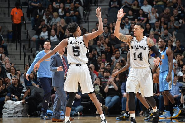 That's game… rookie Dejounte Murray shines… #Spurs beat #Nuggets 118-1...