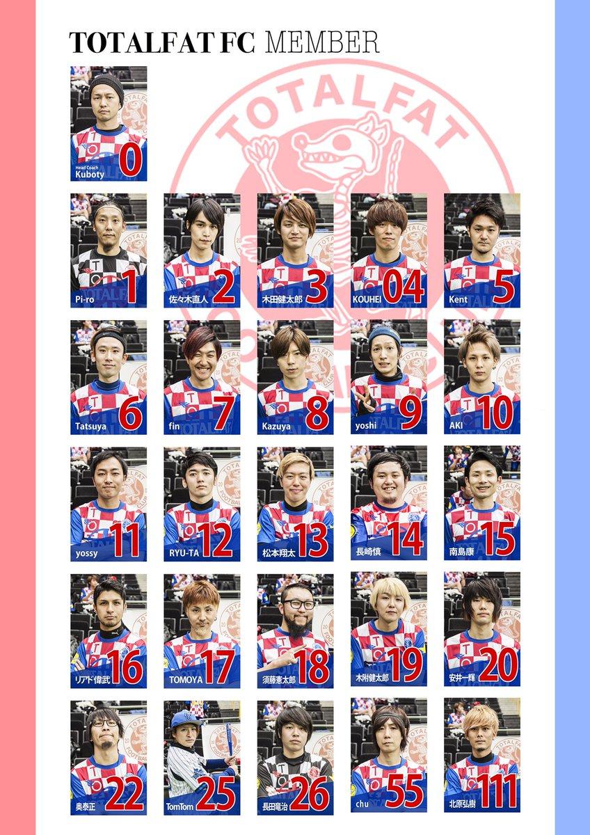 【永久保存版】TOTALFAT FC選手名鑑2017堂々完成!!