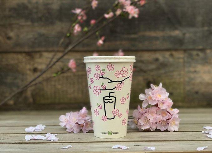 シェイク シャックから桜フレーバーの春限定シェイク「シャクラ シェイク」 fashion-press…