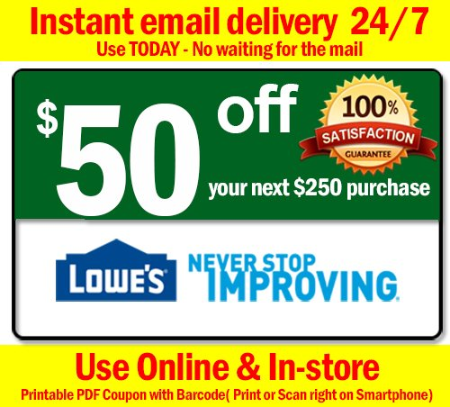 We&#39;ve got all the Lowes coupons! $15 off $50, $50 off $250 and 10% off.  http:// lowescoupon.info  &nbsp;    #homeimprovement #Lowes  #coupons<br>http://pic.twitter.com/HO9XJnLH7v