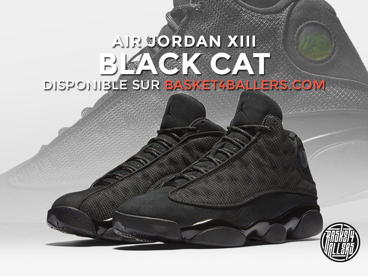 [RELEASE] Elle arrive demain ! La #AirJordan XIII Black Cat sera dispo à 9h sur Basket4Ballers --&gt;  https:// goo.gl/cimXrE  &nbsp;   ! #Sneakers <br>http://pic.twitter.com/NIBCzrO7zN