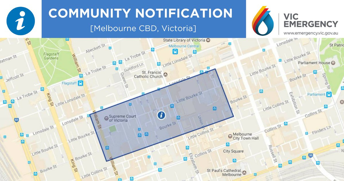 Victoria Police investigate the Bourke St mall incident