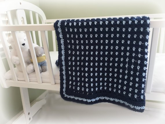 Crochet Baby Blanket Pattern, Baby Afghan Pattern, Crochet Baby Blanket, CROCHET PATTERN, Little Jewels, Crochet Patterns by Deborah O'Leary