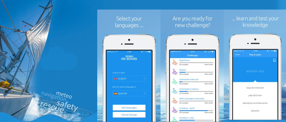 Sailing terms in 6 major languages - get our app for iOS here:  http:// vcb.la/7314b  &nbsp;   #ENG #SPA #POL #POR #RUS #ITA<br>http://pic.twitter.com/hOcZwTAkZn