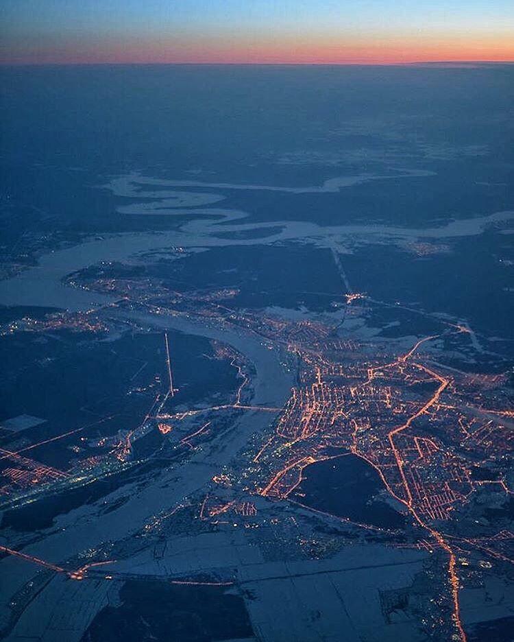 Фотографии города уфа с окна самолета