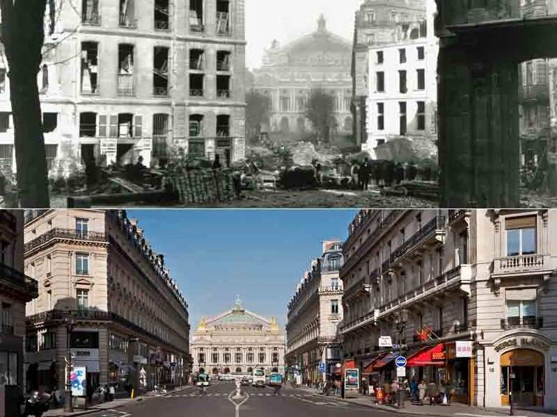Avenue de l&#39;#Opera... AVANT et APRES le passage de l&#39;éventreur de #Paris !  #tourisme #histoire @operadeparis<br>http://pic.twitter.com/yKcnEZGRmm