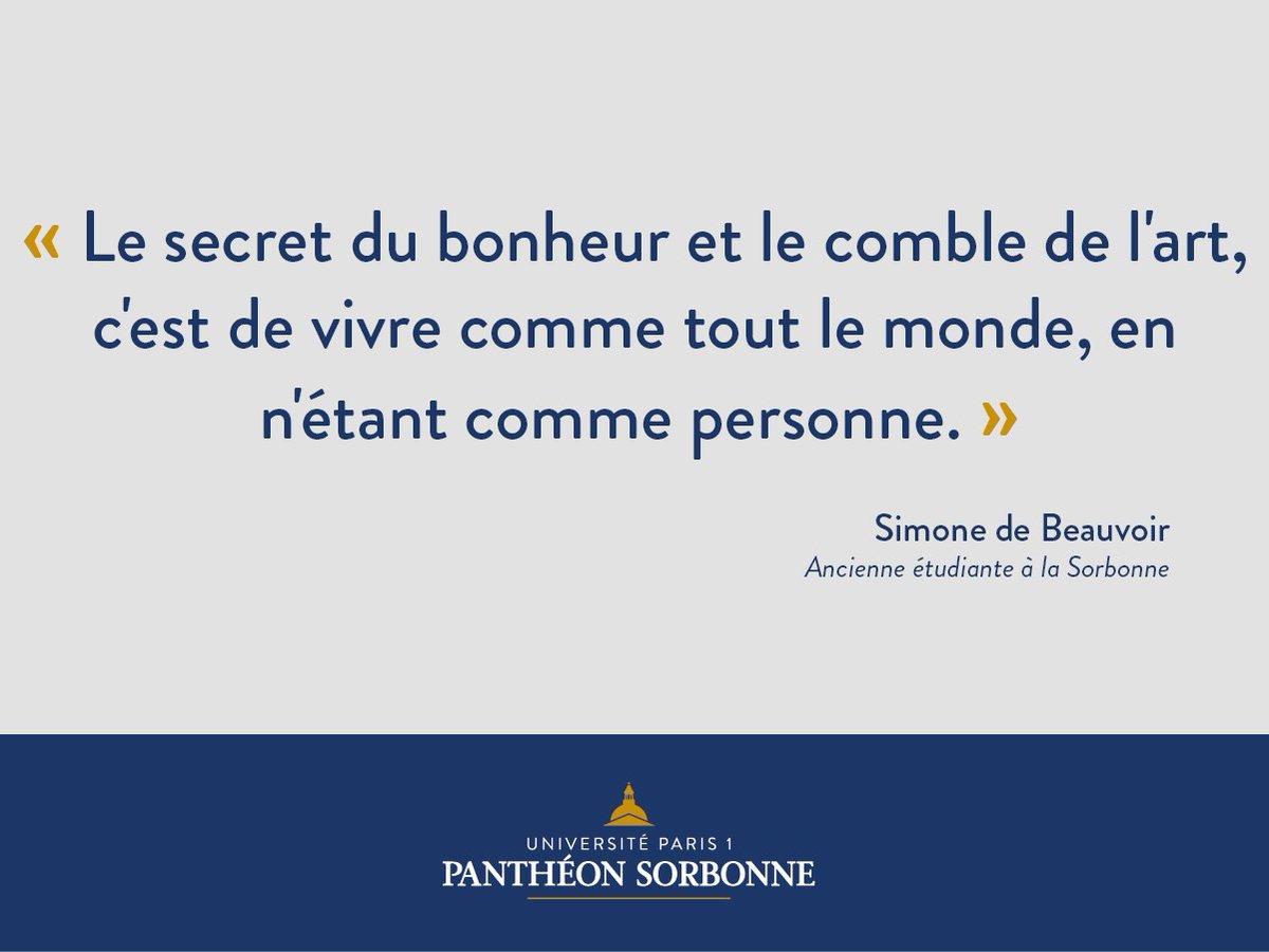 Citation de la semaine de Simone de Beauvoir, ancienne étudiante à la...
