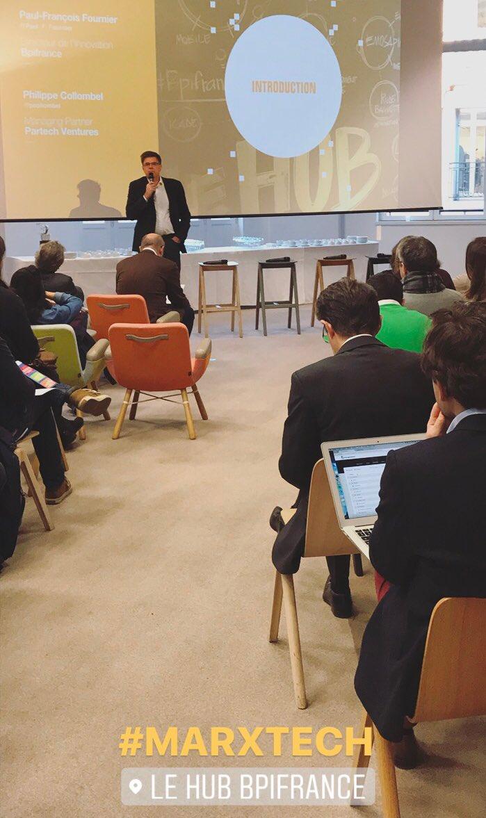 Les nouvelles solutions #marketing &amp; leurs usages sont à l&#39;honneur de la conférence #Martech au @BpifranceHub x @partechventures  #tech <br>http://pic.twitter.com/MW5i2uWOWh