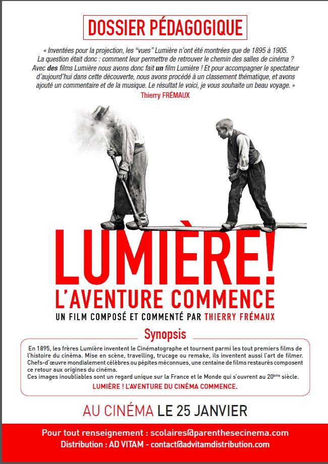 Nous vous recommandons le #film Lumière ! L&#39;aventure commence T Frémaux dossier pédagogique de Parenthèse Cinema  http://www. advitamdistribution.com/lumiere-lavent ure-commence/ &nbsp; … <br>http://pic.twitter.com/C6QZqD9nZZ