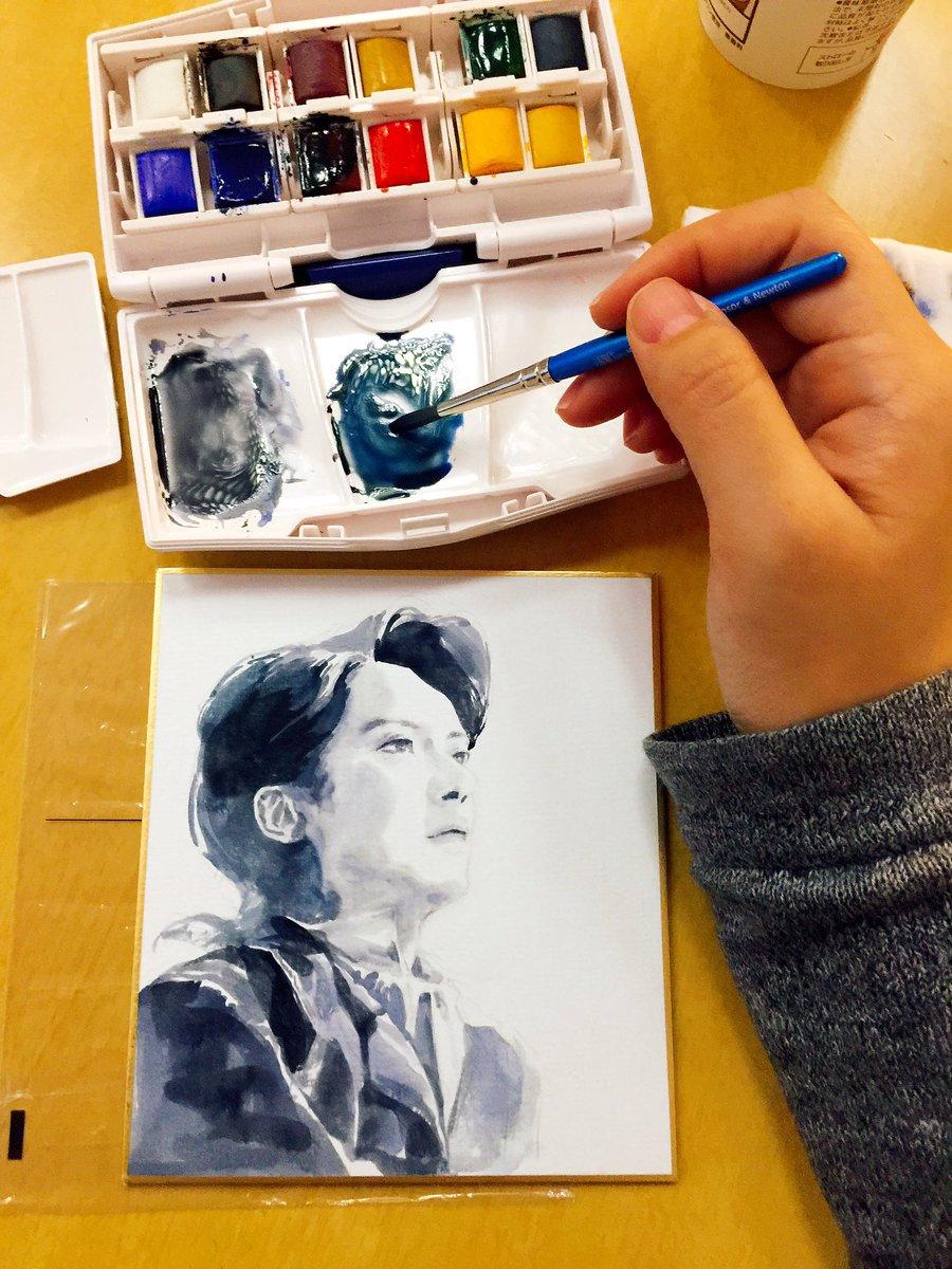 日本を旅行した間に描いた絵。 ミュージカル フランケンシュタイン#の 小西さんと加藤さん。  watercolor&paper https://t.co/4677WYlv6L