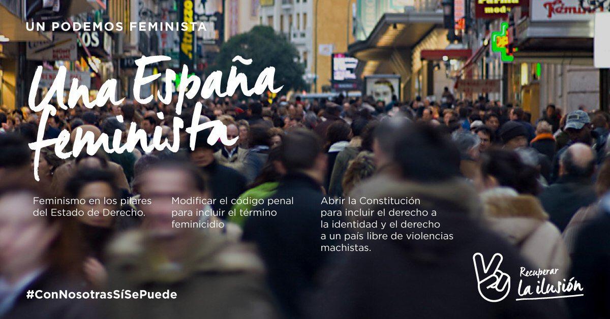 Queremos para Podemos lo que queremos para el país. Hoy @recupeilusion...