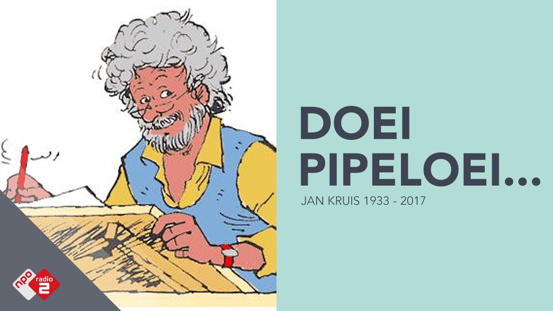 Triest nieuws: striptekenaar Jan Kruis (83) is overleden. Jeugdsentime...