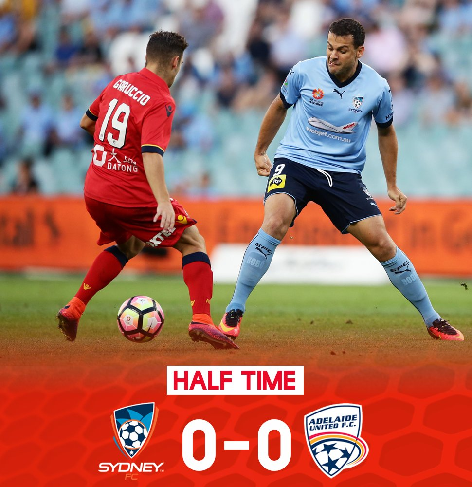 A solid first 45' from the boys sees the game level at the break.  #AU...