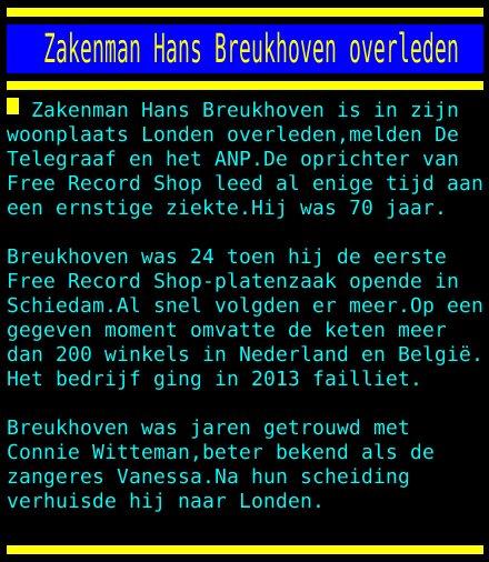 Zakenman Hans Breukhoven overleden https://t.co/AYZ5yTUXBe