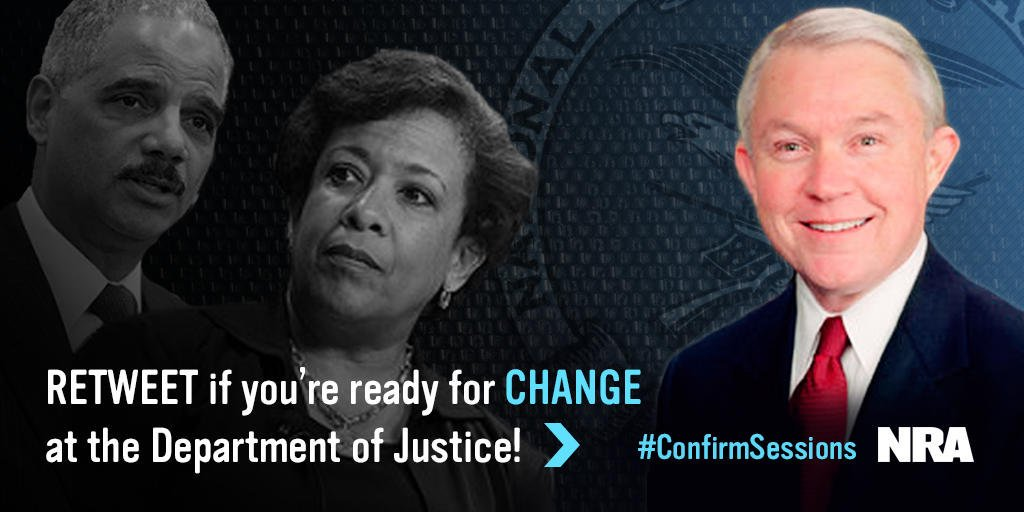 AS A RETIRED US ARMY COLONEL, I STRONGLY SUPPORT THE NOMINATION OF #JeffSessions AS US ATTORNEY GENERAL!  #Time4Change #2ndAmendment<br>http://pic.twitter.com/GsLKNRlglS