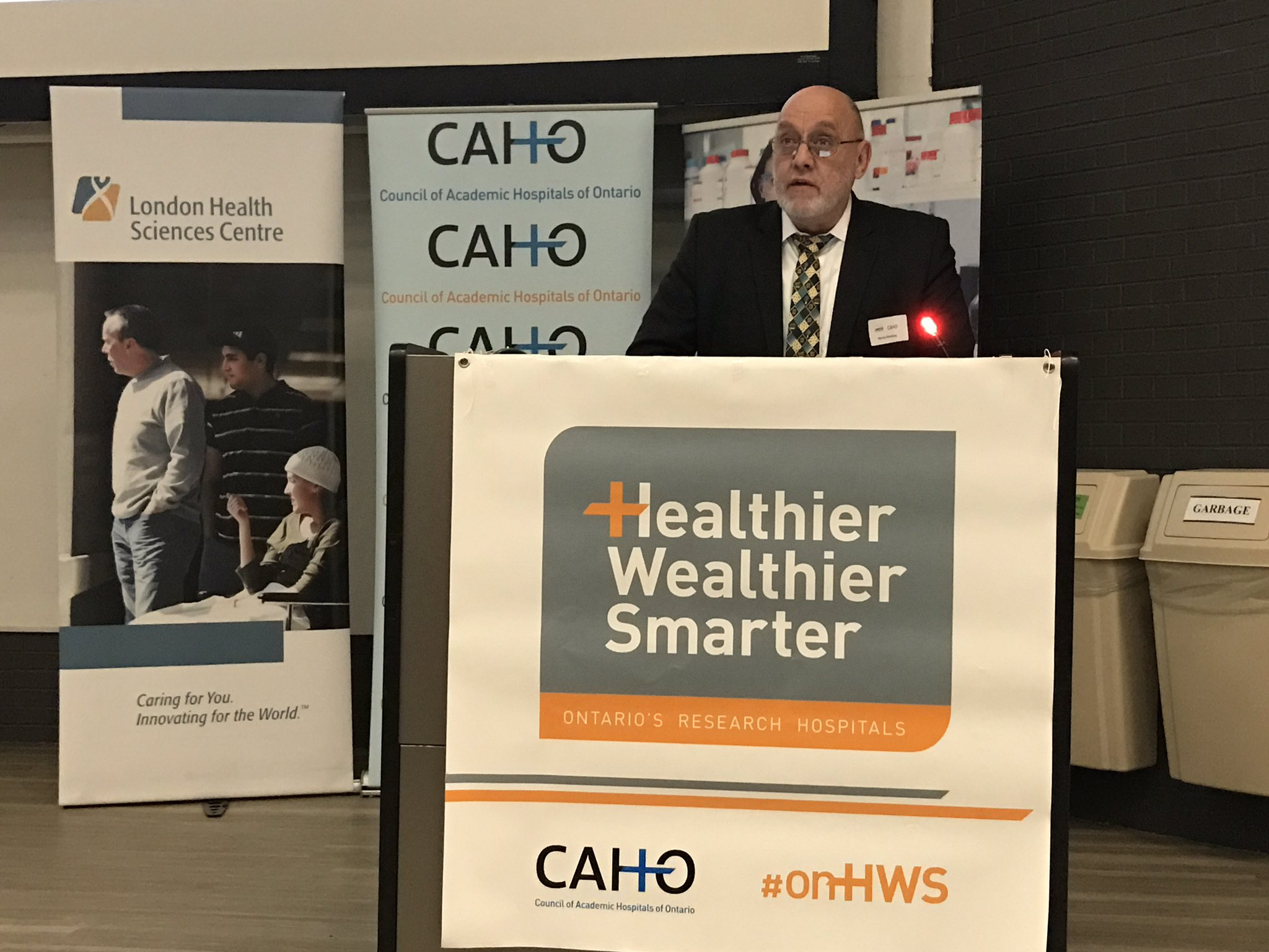 Murray Glendining, CEO of @LHSCCanada, says research in #ldnont benefits patients not only in London but around the world. #onhws https://t.co/kp8DBCBSma