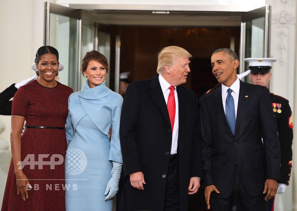 つい先ほど、ホワイトハウスにて。(c)AFP/JIM WATSON