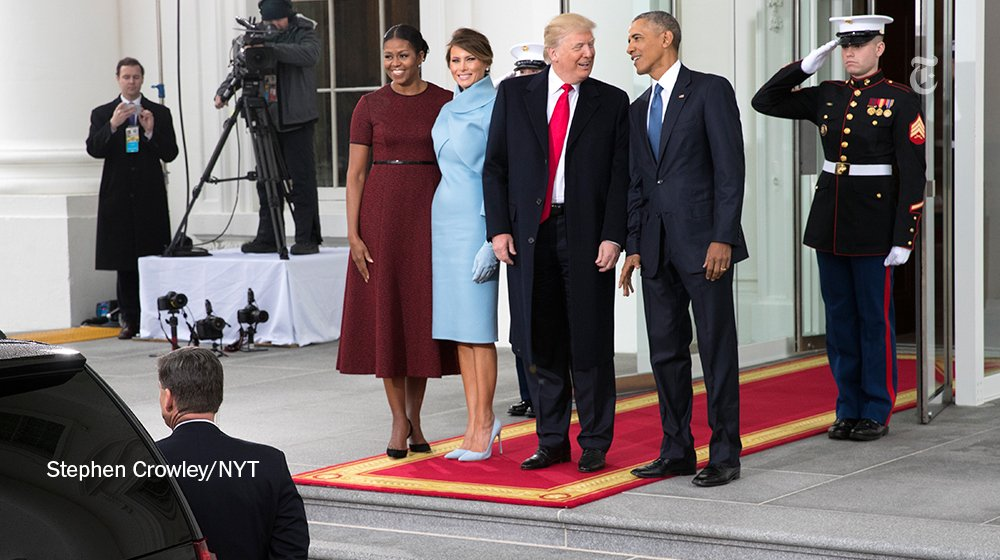 In one of his last official acts, President Obama will welcome President-elect Donald Trump and his wife, Melania, to the White House this morning.