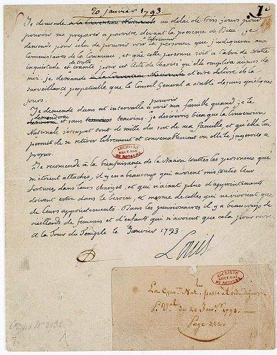 1. 20 janvier 1793, Louis XVI apprend sa condamnation à mort. Le #roi demande un sursis de 3 jours qui lui est refusé. #LouisXVI #21janvier<br>http://pic.twitter.com/Hqh3agh7WQ