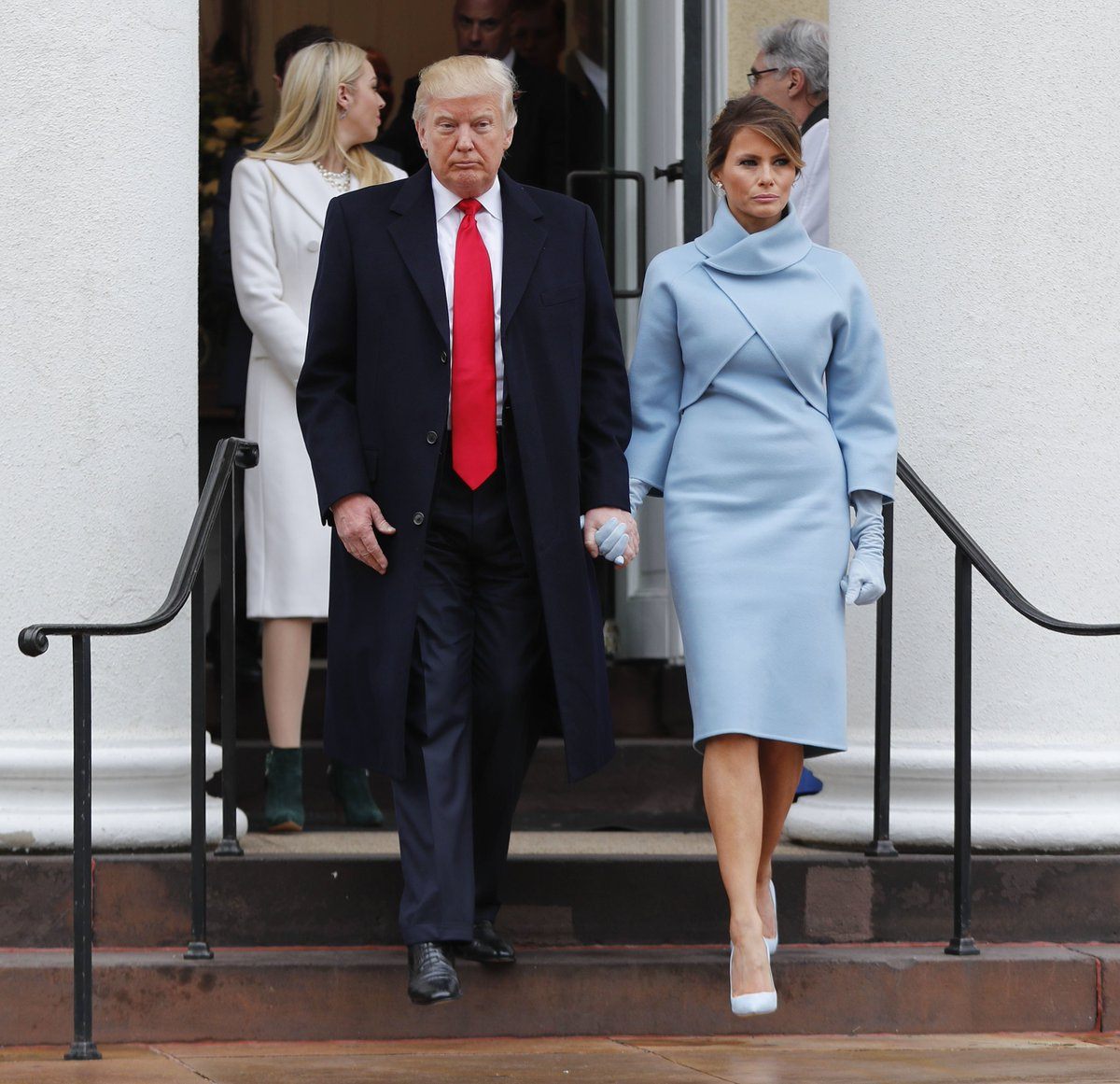 TO ALL THOSE  Who refused to dress #MelaniaTrump  Eat your hearts out  And behold BEAUTY  #InaugurationDay    #MAGA