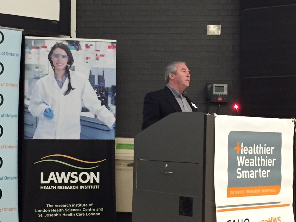 Michael offers a heartfelt thanks to the doctors and researchers @LHSCCanada & @lawsonresearch #onHWS https://t.co/ifbbknRgEj